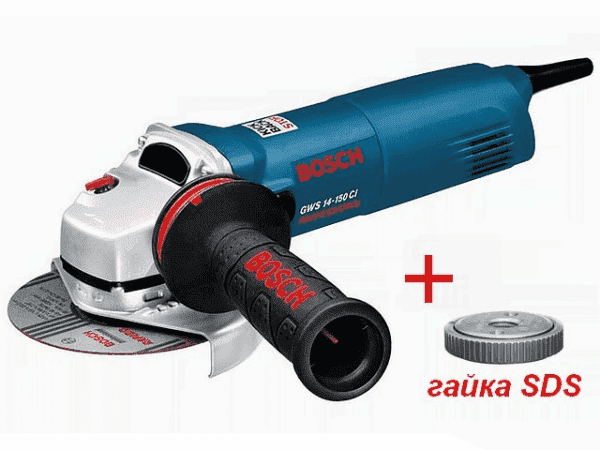 Одноручная углошлифмашина GWS 14-125 CI, 1400Вт, 125мм
